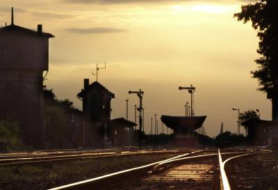 verlassener Bahnhof