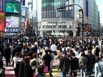 Kreuzung in Shibuya, Tokyo