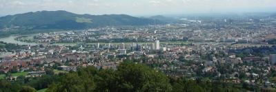Blick auf Linz (Austria)
