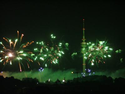 Olympiapark in Flammen