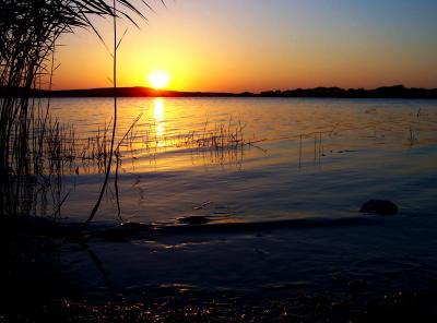 Sonnenuntergang am Stausee (3)