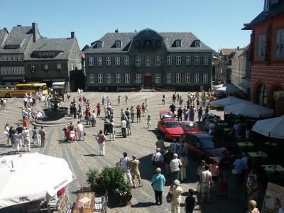 Blick auf den Goslarer Marktplatz