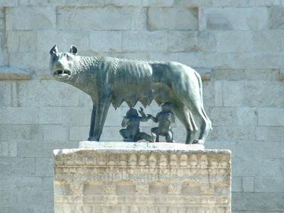 Romulus und Remus in Aquilea/Italien