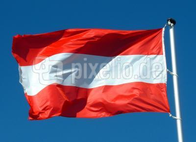 Flagge Österreich forever!