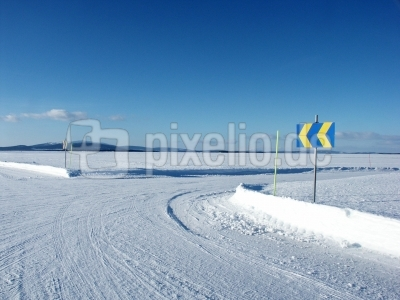 Ausfahrt Winter