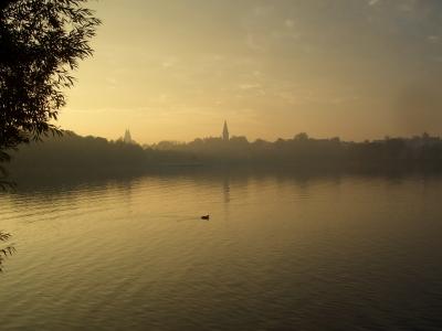 Abendstimmung an einem See in den Masuren