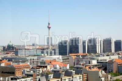 kostenloses foto skyline berlin. Black Bedroom Furniture Sets. Home Design Ideas