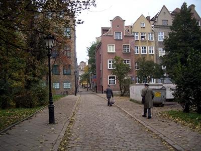 Im Hinterhof der Altstadt von Danzig