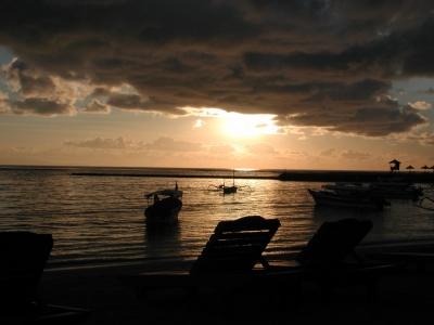 Morgendämmerung Bali