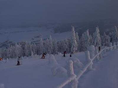 Februar auf dem Fichtelberg