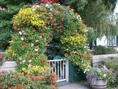 schöne Gartenpforte