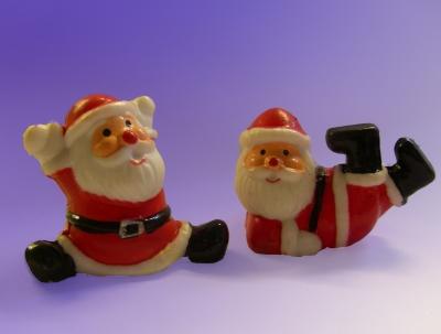 Jecke Weihnachtsmänner