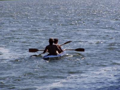 Wasserwanderer auf dem Woblitz-See