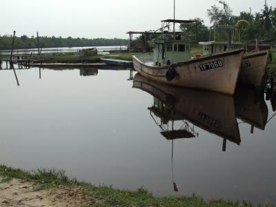 Fischerboote am Südchinesischen Meer