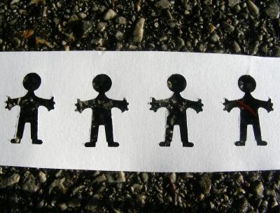 Papierkette - Straßenkinder