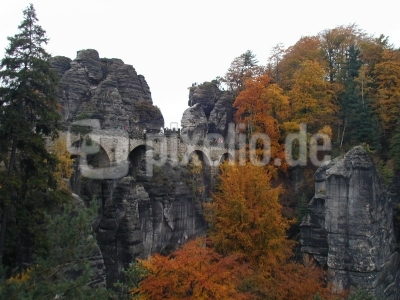 Basteibrücke im Elbsandsteingebirge 1