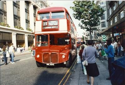 Typischer Londoner Bus
