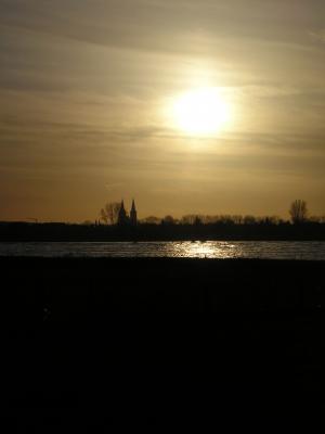 *Rhein im Abendschein* 2