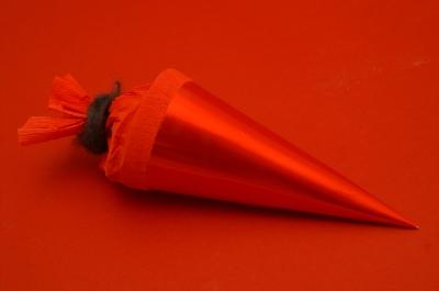 Schultüte (2 - rot in rot)
