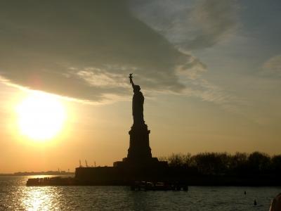 Freiheitsstatue - Sonnenuntergang