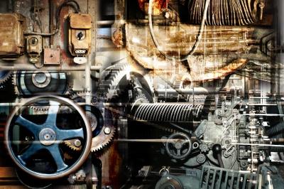 Maschinen Hintergrund