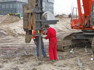 Baugrundverfestigungsmaschine