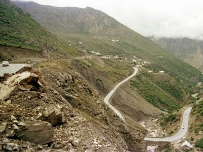 Bergstrasse in Iran