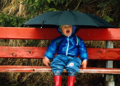 """Der """"Arme Poet"""" im Regen"""