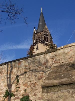 Kirchturm der Friedenskirche