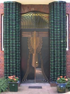 Tür von Haus Behrens (Mathildenhöhe Darmstadt)
