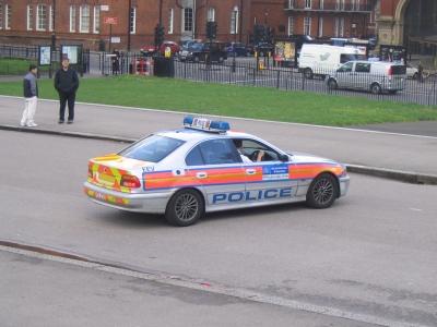 Londoner Polizeiauto
