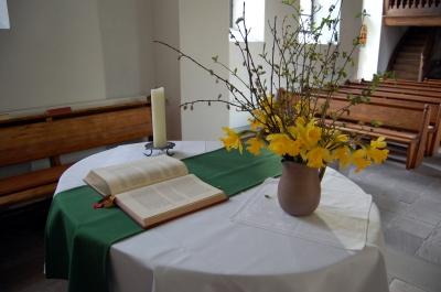 vor der Osterpredigt