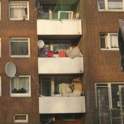 Fassade eines Hauses in Hamburg-Bilbrook