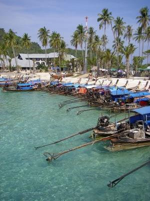 Longtailboote in Koh Phi Phi