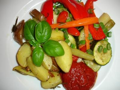Gesunder Gemüseteller