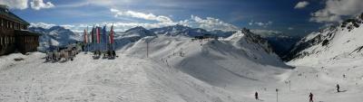 Panorama am Arlberg von der Ulmer Hütte bis zur Valfagehrabfahrt