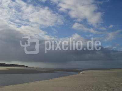 Priel an der Nordsee auf Langeoog