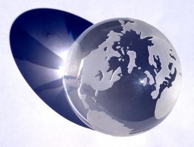 Glaskugel Erde