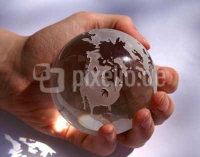 Glaskugel Erde 7