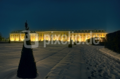 Schloss Ludwigsburg Südseite Nacht