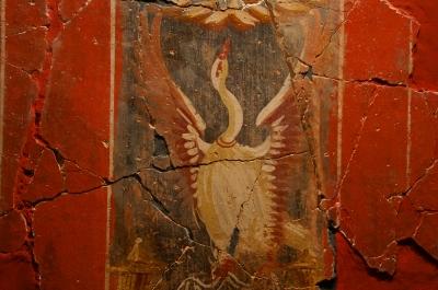 Wandmalerei in der Casa Fortuna
