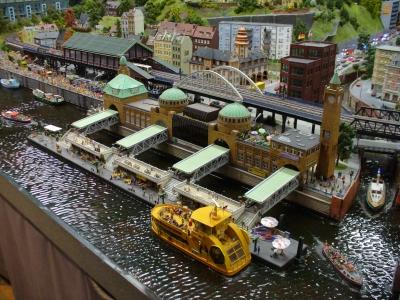"""Modellbau_Landungsbrücken Hafen HH _im """"Miniatur-Wunderland"""" Hamburg"""