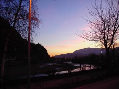 Sonnenuntergang in Bozen