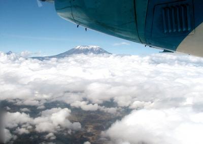 Blick ausdem Flugzeug