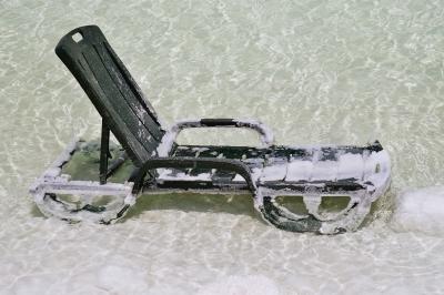 Liegestuhl im Toten Meer