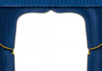 Vorhang auf in blau
