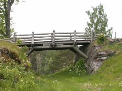 Holzsteg in Schweden