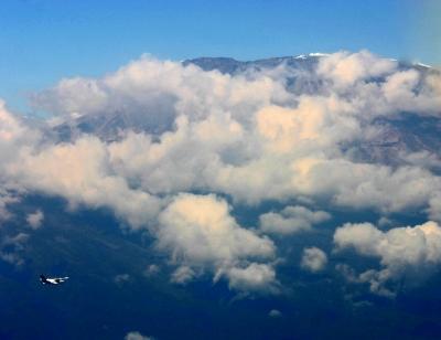 Flieger am Kilimandscharo