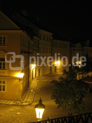 Prager Gasse bei Nacht