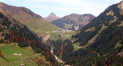 Talblick in das Große Walsertal